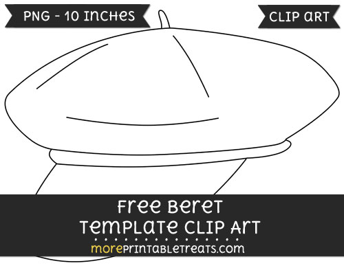 Free Beret Template - Clipart