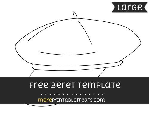 Free Beret Template - Large