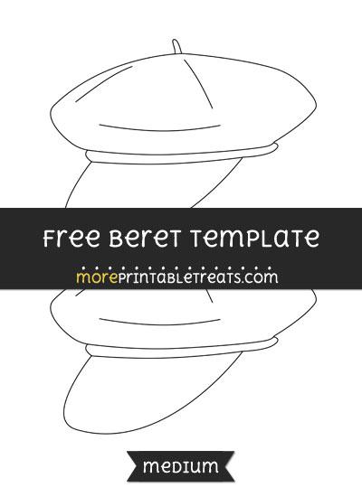Free Beret Template - Medium