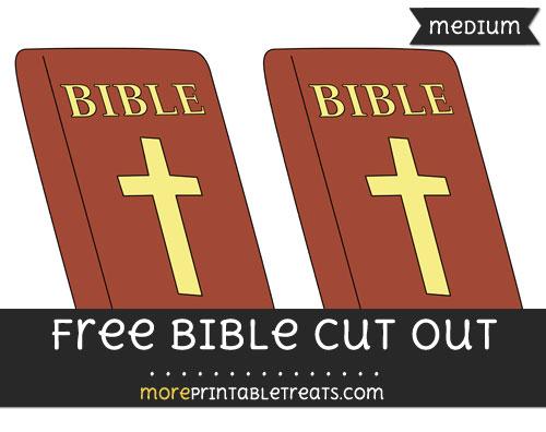 Free Bible Cut Out - Medium Size Printable