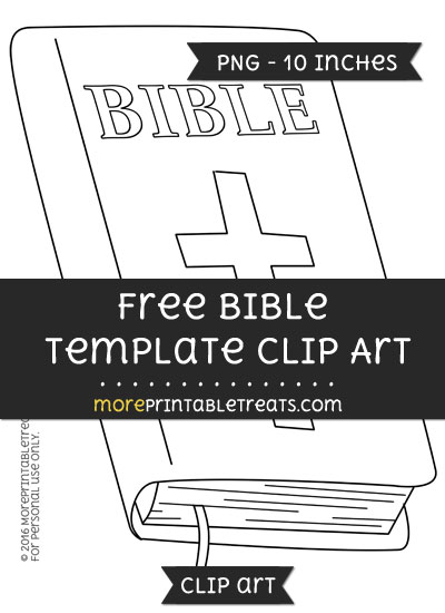 Free Bible Template - Clipart
