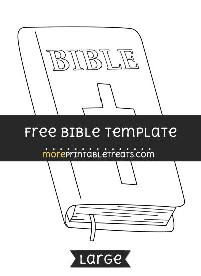 Free Bible Template - Large