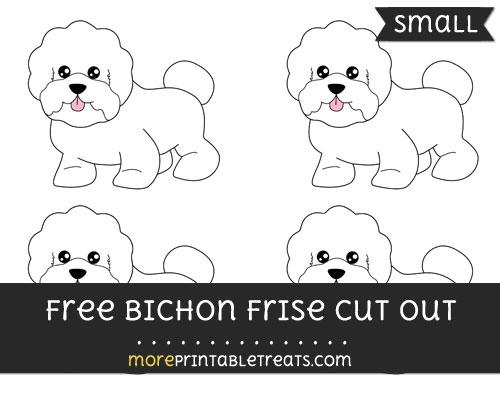 Free Bichon Frise Cut Out - Small Size Printable