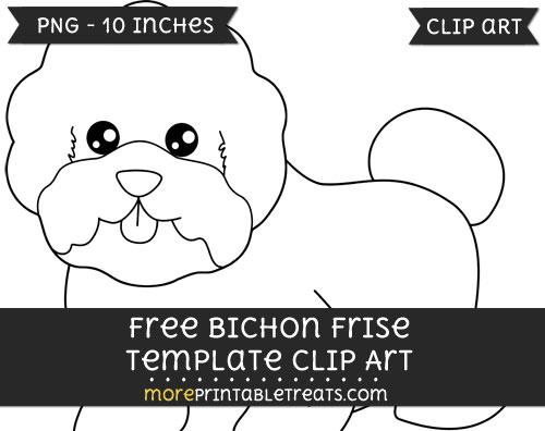 Free Bichon Frise Template - Clipart