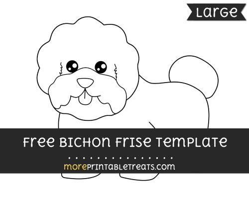 Free Bichon Frise Template - Large