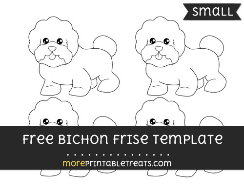 Free Bichon Frise Template - Small