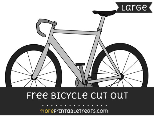 Free Bicycle Cut Out - Large size printable
