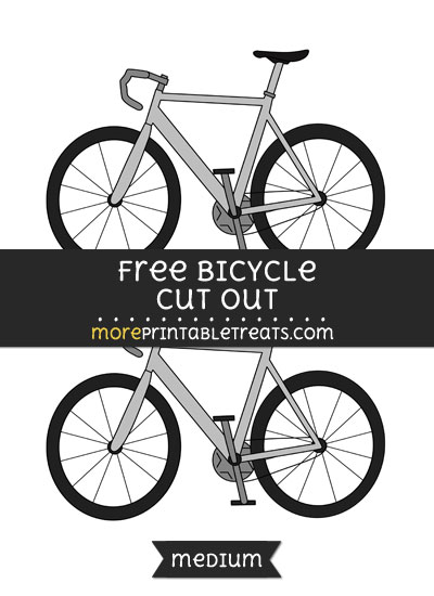 Free Bicycle Cut Out - Medium Size Printable