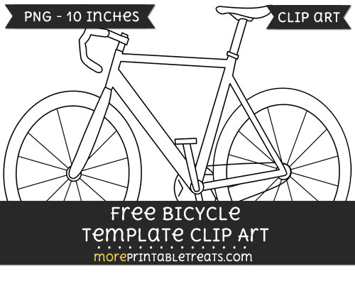 Free Bicycle Template - Clipart