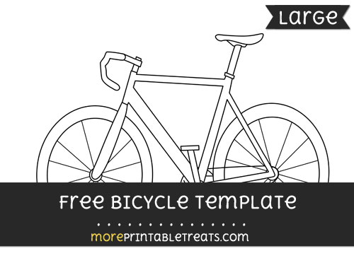 Free Bicycle Template - Large
