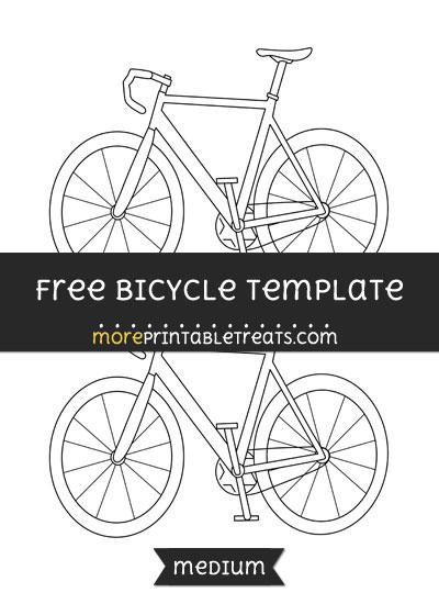 Free Bicycle Template - Medium