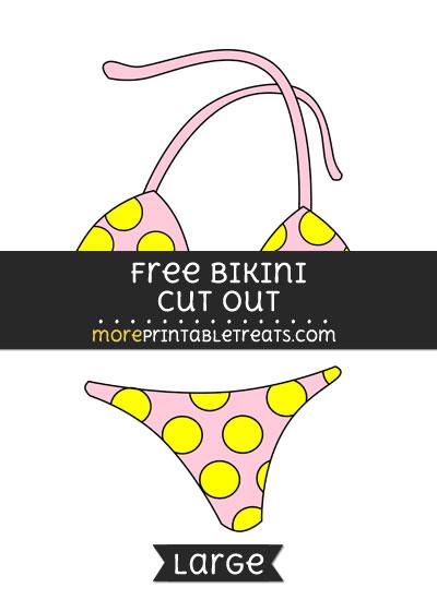 Free Bikini Cut Out - Large size printable