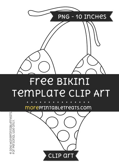 Free Bikini Template - Clipart