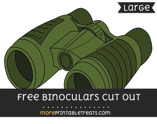 Free Binoculars Cut Out - Large size printable
