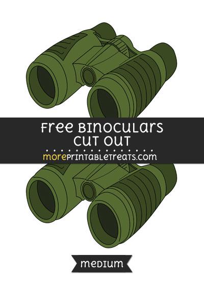 Free Binoculars Cut Out - Medium Size Printable