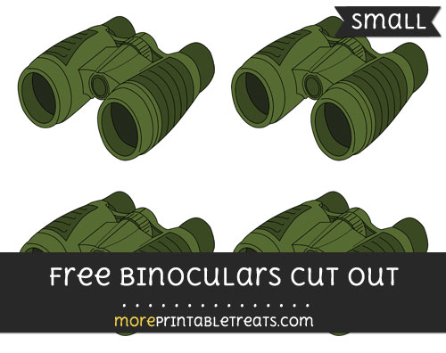 Free Binoculars Cut Out - Small Size Printable