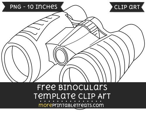 Free Binoculars Template - Clipart