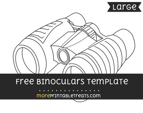 Free Binoculars Template - Large