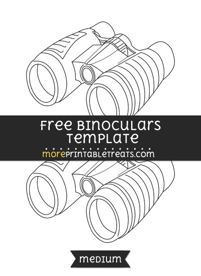 Free Binoculars Template - Medium