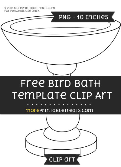 Free Bird Bath Template - Clipart