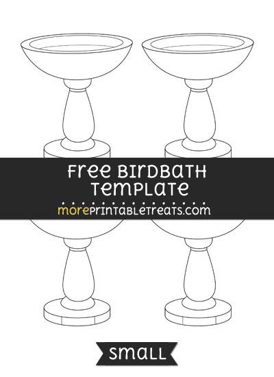 Free Birdbath Template - Small