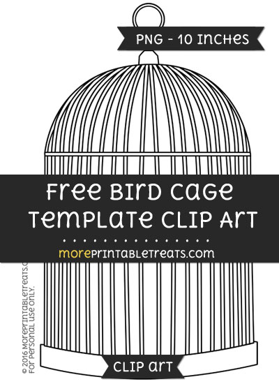 Free Bird Cage Template - Clipart