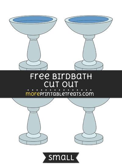 Free Birdbath Cut Out - Small Size Printable