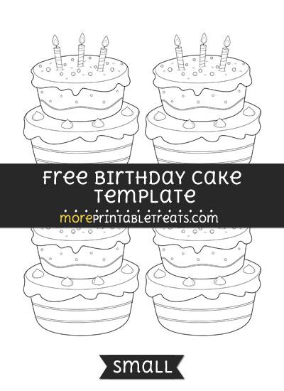 Free Birthday Cake Template - Small