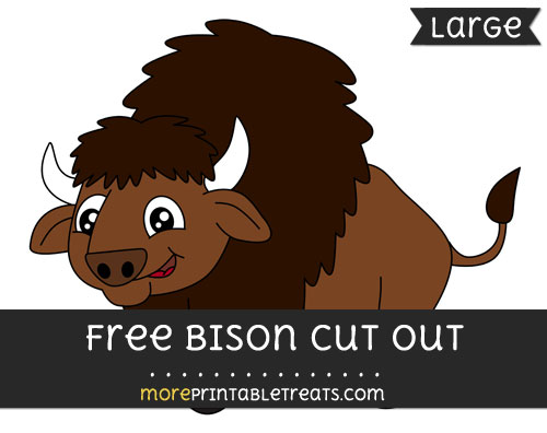 Free Bison Cut Out - Large size printable