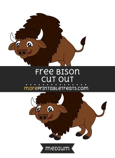 Free Bison Cut Out - Medium Size Printable