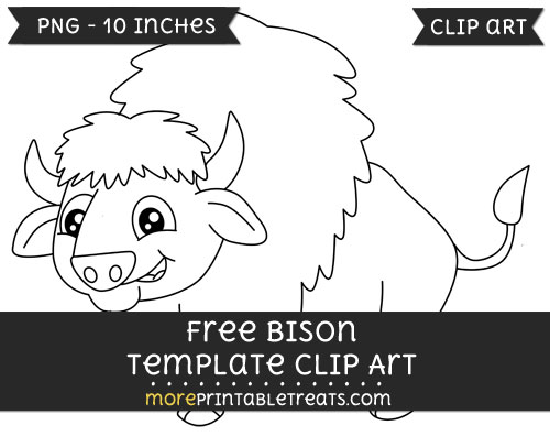 Free Bison Template - Clipart