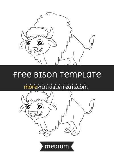 Free Bison Template - Medium