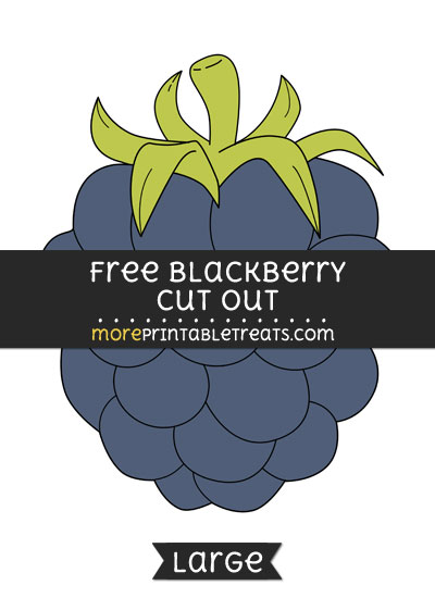 Free Blackberry Cut Out - Large size printable