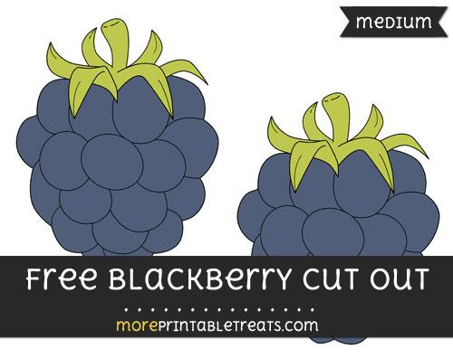 Free Blackberry Cut Out - Medium Size Printable