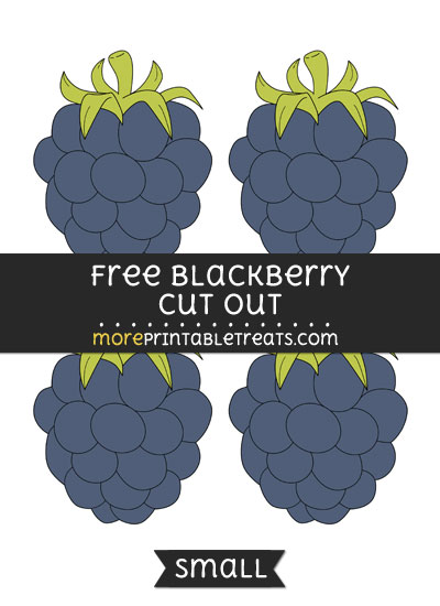 Free Blackberry Cut Out - Small Size Printable
