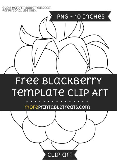 Free Blackberry Template - Clipart