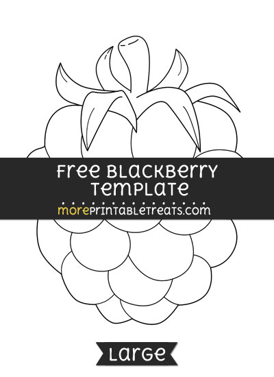 Free Blackberry Template - Large
