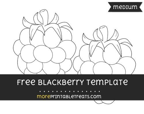 Free Blackberry Template - Medium