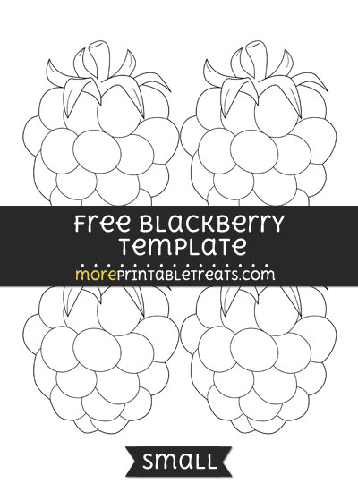 Free Blackberry Template - Small