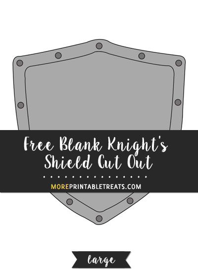 Free Blank Knight's Shield Cut Out - Large