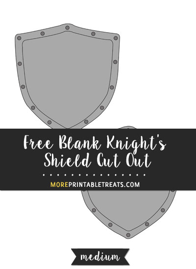Free Blank Knight's Shield Cut Out - Medium