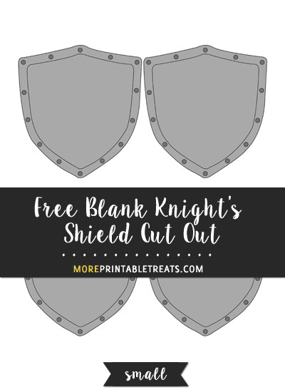 Free Blank Knight's Shield Cut Out - Small