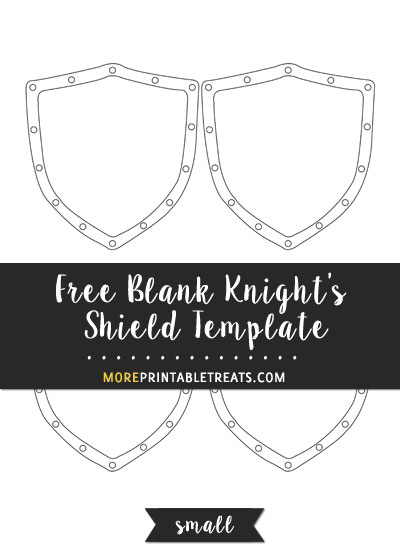 Free Blank Knight's Shield Template - Small Size