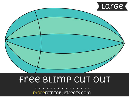Free Blimp Cut Out - Large size printable