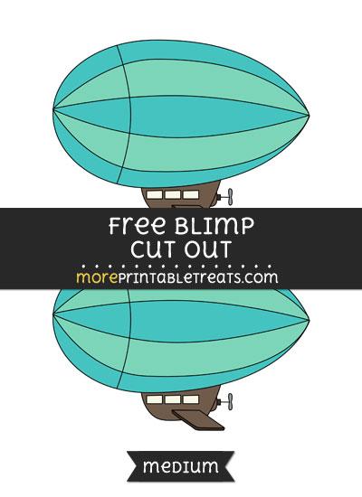 Free Blimp Cut Out - Medium Size Printable