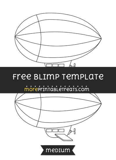Free Blimp Template - Medium