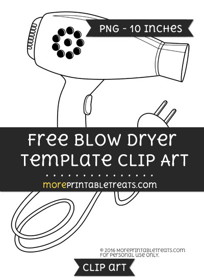 Free Blow Dryer Template - Clipart