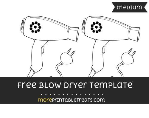 Free Blow Dryer Template - Medium