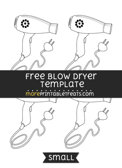 Free Blow Dryer Template - Small