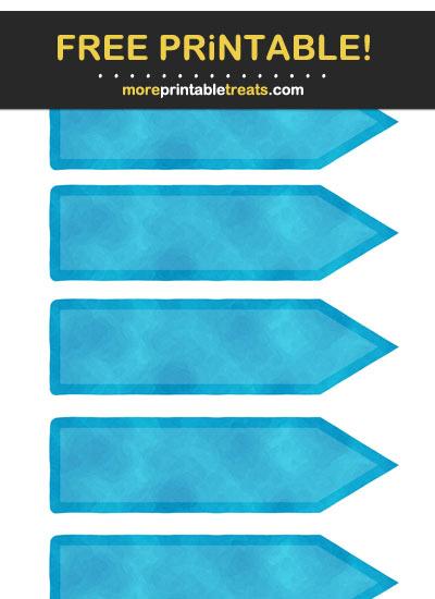 Free Printable Blue Arrow Flag Labels